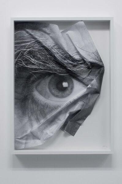 JR, 'The Wrinkles of the City, Los Angeles, Oeil froissé encadré 3', 2011