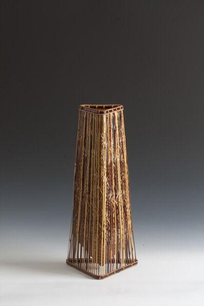 Tsujimura Ichirō, 'Triangular Bamboo Basket (T-3491)', Heisei era (1989, present), dated 2010