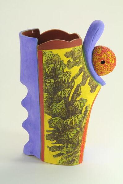 Carol Gouthro, 'Pine Cone/Yellow Vase ', 2018