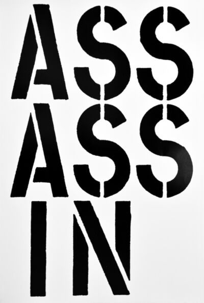 Christopher Wool, 'ASSASSIN, page from the Black Book', 1989