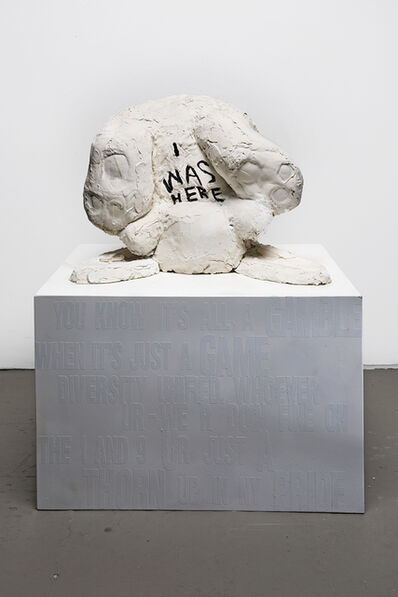 Ivy Naté, 'Animal (Rabbit) Sculpture with message: 'I Was Here'', 2018
