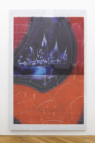 Ned Vena, 'Manhattan Skyline Between Late 2001-2010 Reflected in the Eye of Spiderman', 2017
