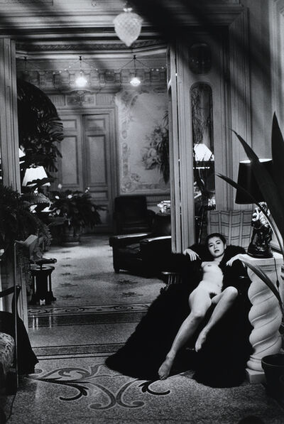 Helmut Newton, 'Eri Ishida, Château Gairault, Nice', 1992