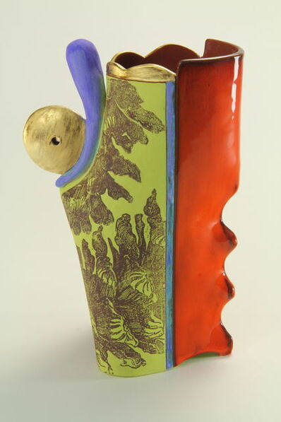 Carol Gouthro, 'Pine Cone/Chartreuse Vase', 2018