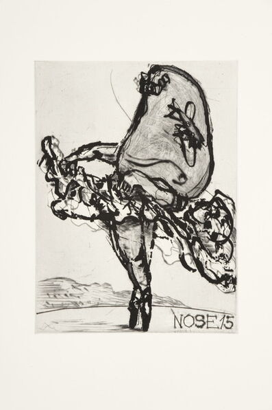 William Kentridge, 'Nose 15', 2009