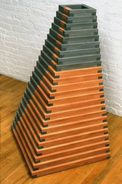Jackie Ferrara, 'Red & Black Pyramid', 1991
