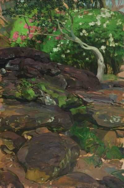 Benjamin J. Shamback, 'Camellia Tree in Rocks at Bellingrath III', 2017