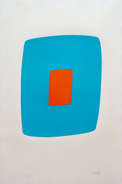 Ellsworth Kelly, 'Light Blue With Orange VI.11, from the Suite of Twenty-Seven Color Lithographs', 1965