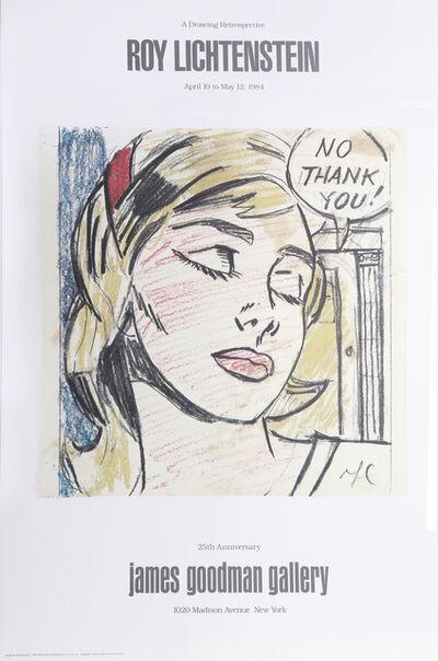 Roy Lichtenstein, 'No Thank You - James Goodman Gallery', 1984