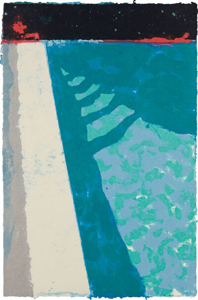 David Hockney, 'Steps with Shadow F (Paper Pool 2)', 1978