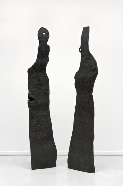 David Nash, 'King and Queen I', 2011