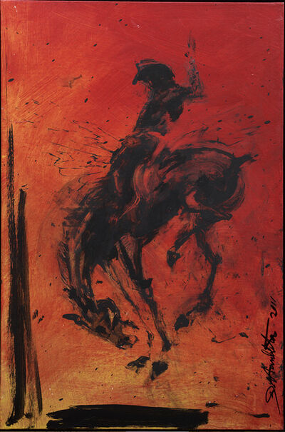 Richard Hambleton, 'Horse & Rider - Red ', 2018
