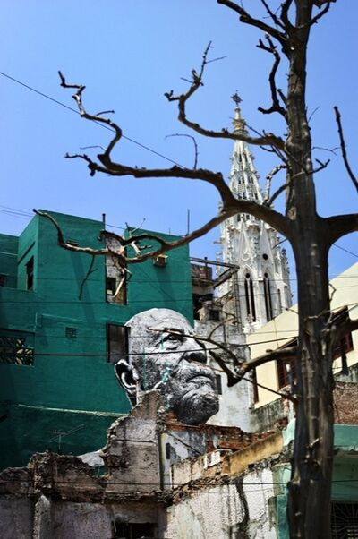 JR, 'The Wrinkles of the City, La Havana, Raul Cabrera Cardenas, (artwork by JR, project by JR & José Parlá) Cuba', 2012