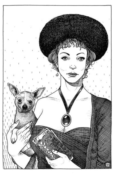 Jared Muralt, 'Lady & Dog', 2014