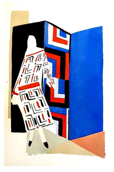 "Sonia Delaunay, 'Original Pochoir ""27 Living Paintings XII"" by Sonia Delaunay', 1969"