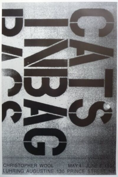 Christopher Wool, 'Cats in a Bag', 1991