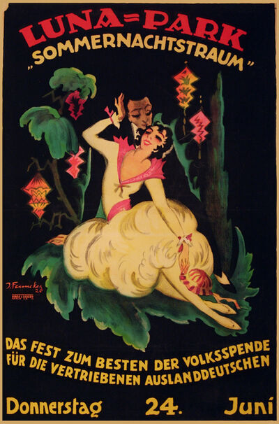 Josef Fenneker, 'Luna - Park - Dancing and Theater', 1920
