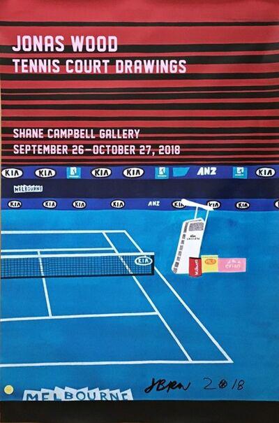 Jonas Wood, 'Jonas Wood Tennis Court Drawings (Hand Signed)', 2018