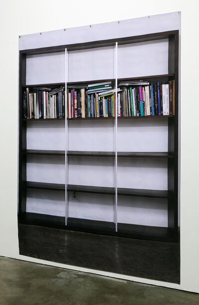 Katherine Gray, 'UNTITLED (BOOKSHELF BANNER)', 2015