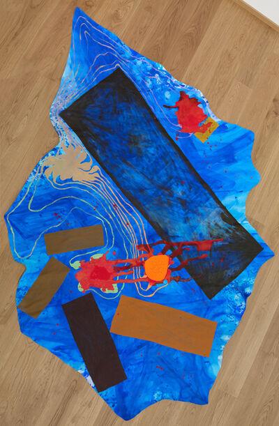 Philipp Schwalb, 'Pfütze der FlächtlingsSog (Blues-Soul) Tod-Bild-Generator, Metamorph-Instrumentz (Bildschatten), FleckSchlag  als erstes virtuelles Farblicht (RÄPs), planetarische Spannung (Orangen und violette)', 2016