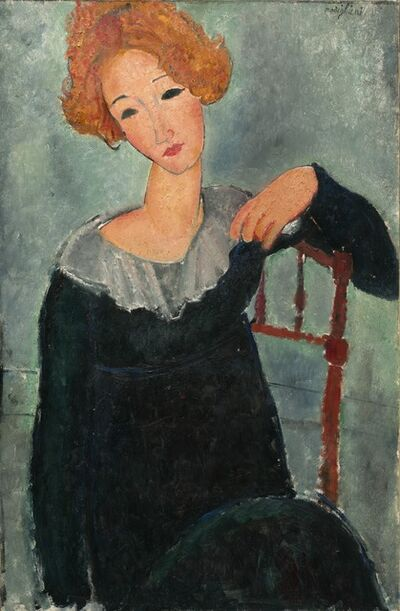 Amedeo Modigliani, 'Woman with Red Hair', 1917
