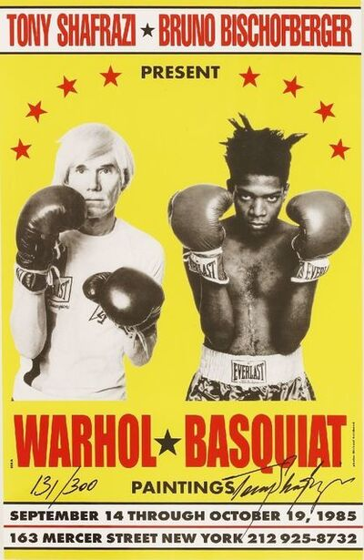 Andy Warhol, 'Poster For Warhol/Basquiat Paintings', 1985