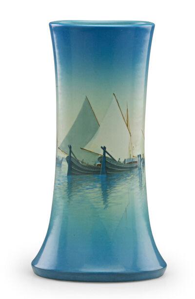 Carl Schmidt, 'Marine Scenic Vellum vase (uncrazed), Cincinnati, OH', 1924