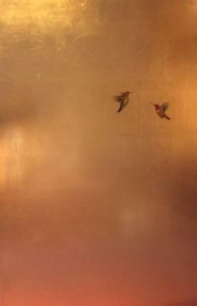 Carolyn Reynolds, 'Hummingbirds in Golden Rose ', 2018