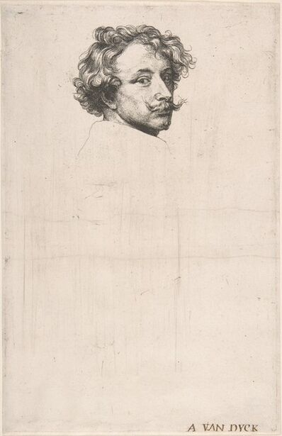 Anthony van Dyck, 'Self-Portrait, from The Iconography', ca. 1630