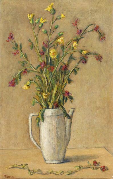 Fiorenzo Tomea, 'Vase of flowers'