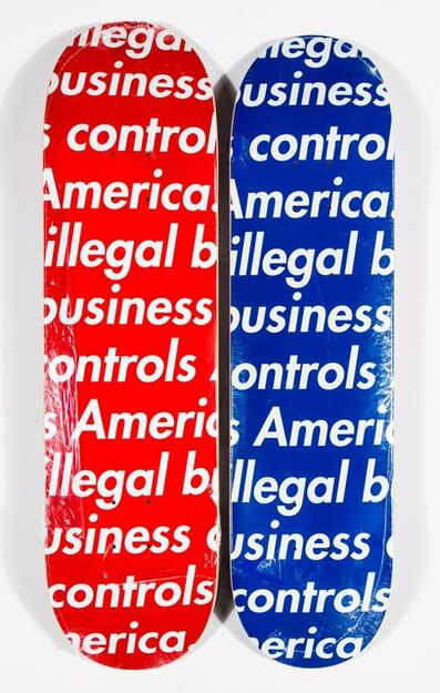 Supreme, 'Illegal Business (Blue and Red) (two works)', 2018