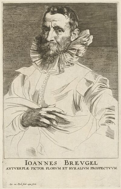 Anthony van Dyck, 'Jan Bruegel the Elder', probably 1626/1641