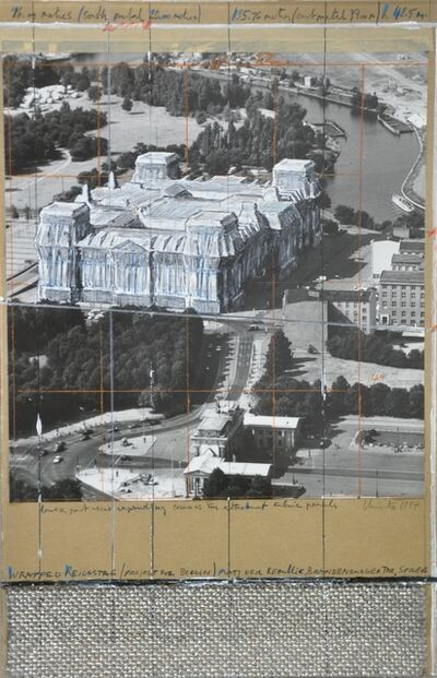 Christo, 'Wrapped Reichstag', 1994