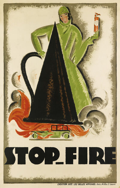 Charles Loupot, 'STOP - FIRE', 1925