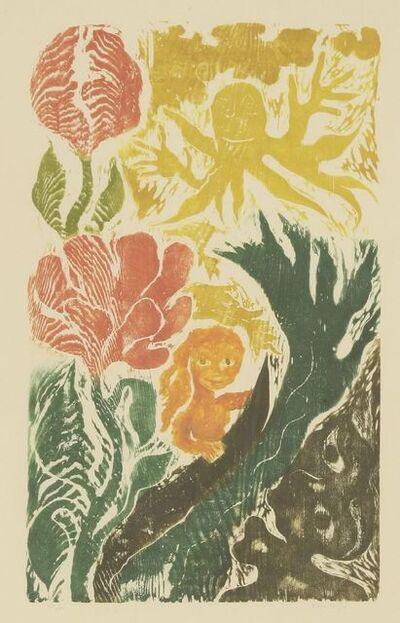 Ken Kiff, 'Woman, Waves and Flowers', 1991