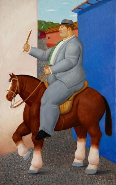 Fernando Botero, 'Hombre a caballo', 2015