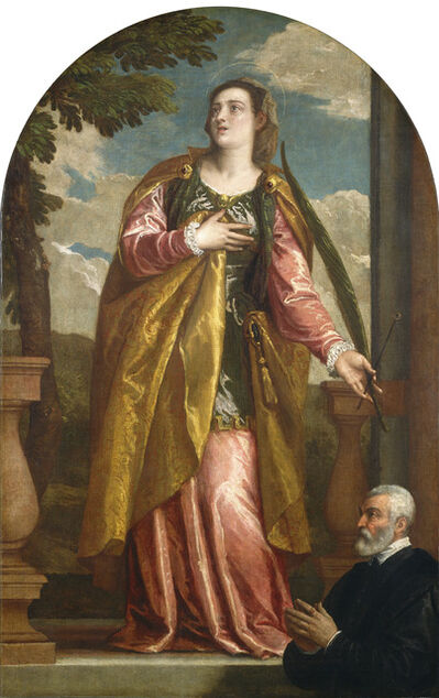 Paolo Veronese, 'Saint Lucy and a Donor', probably c. 1580