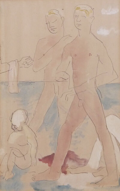 Christopher Wood, 'Two Boys at Beach', ca. 1926