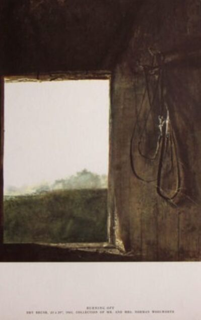Andrew Wyeth, 'Burning Off'