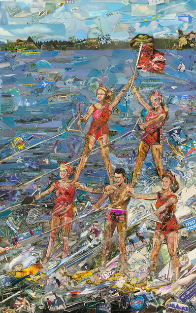 Vik Muniz, 'Postcards from Nowhere: Waterskiing', 2014