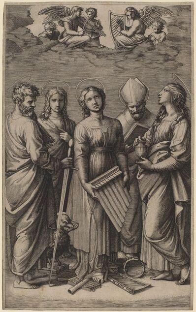 Marcantonio Raimondi after Raphael, 'Saint Cecilia'