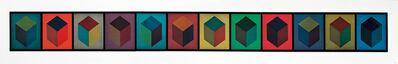 Sol LeWitt, 'Twelve Cubes (Triptych)', 1995