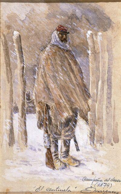 Eleodoro E. Marenco, 'Campaña del desierto: El Centinela (Desert Campaign: The Sentinel)', 1879