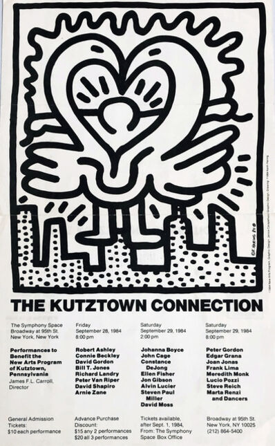 Keith Haring, 'Keith Haring Kutztown Connection poster 1984', 1984