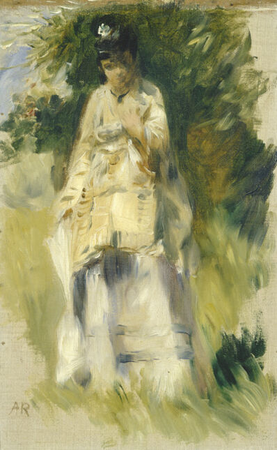 Pierre-Auguste Renoir, 'Woman Standing by a Tree', 1866