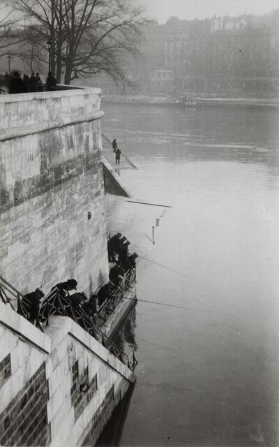 André Kertész, 'Fishermen Behind Notre Dame, Paris', 1925