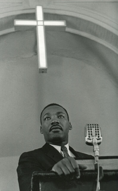 Charles Moore, 'Martin Luther King Jr. Addressing A Meeting Of The Montgomery Improvement Association, Which Was Founded In 1955 To Organize The Bus Boycott. A Year Later, The Bus System Was Integrated', 1958