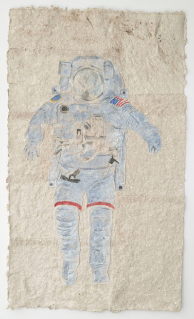Kevin Sudeith, 'Upside Down Spaceman (gray)', 2015
