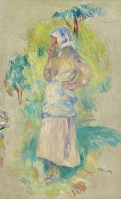 Pierre-Auguste Renoir, 'Jeune fille mangeant une pomme, Gabrielle Dufour - fragment', ca. 1891
