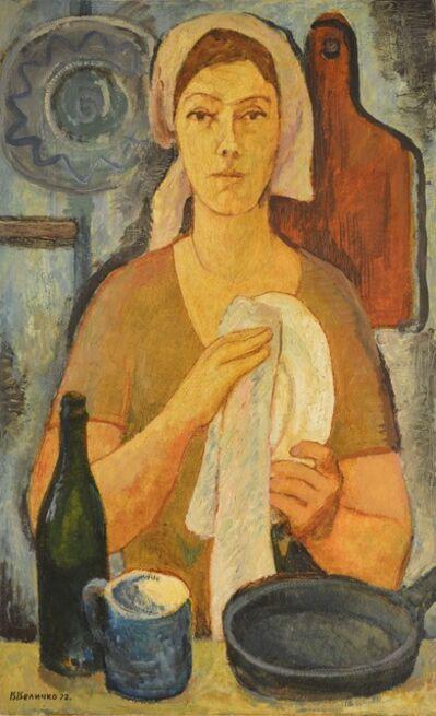 Vadim Semenovich Velichko, 'Woman with plate', 1972